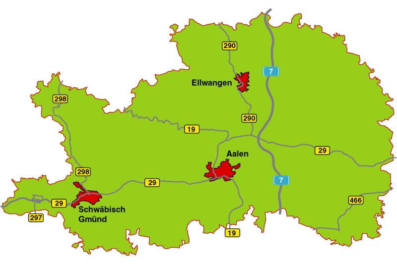 Schwäbische Alb Karte Städte.Ostalbkreis De Landkreis