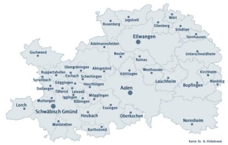 Schwäbische Alb Karte Städte.Ostalbkreis De Kreis Städte Und Gemeinden