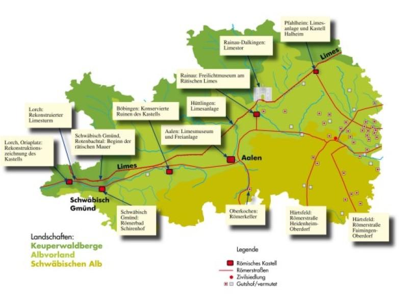 Ostalbkreis Karte.Ostalbkreis De Der Limes Im Ostalbkreis Die Teufelsmauer