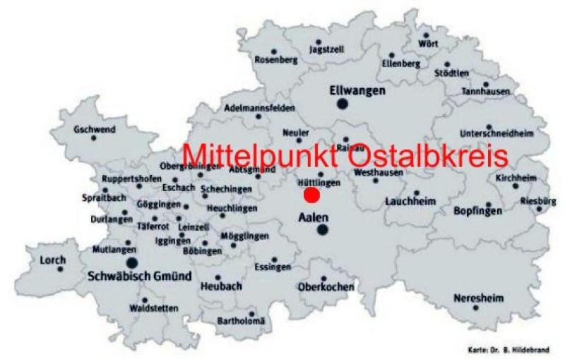 Ostalbkreis Karte.Ostalbkreis De 06 09 2017 Mittelpunkt Des Ostalbkreises In Aalen